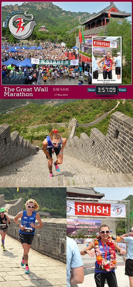 Éxito de Sofía García en el maratón de la Gran Muralla China