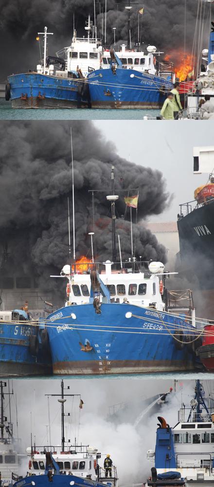 Impresionantes fotos del incendio de un barco en el puerto - Puerto burriana ...