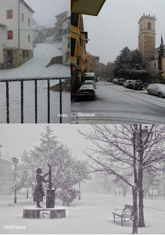 La nieve llega al interior de nuestra provincia castell n - Interior de castellon ...