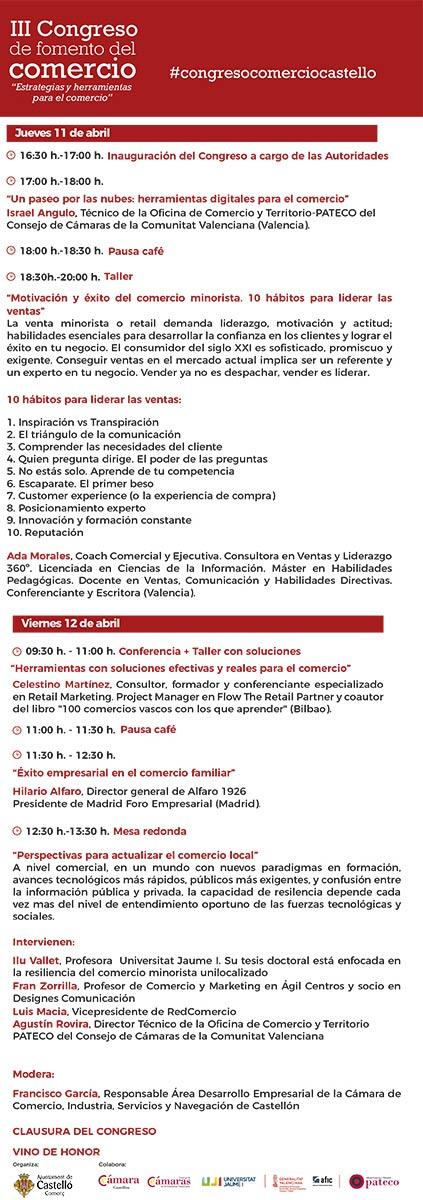 III Congreso del Comercio de Castelló, 11 y 12 de abril