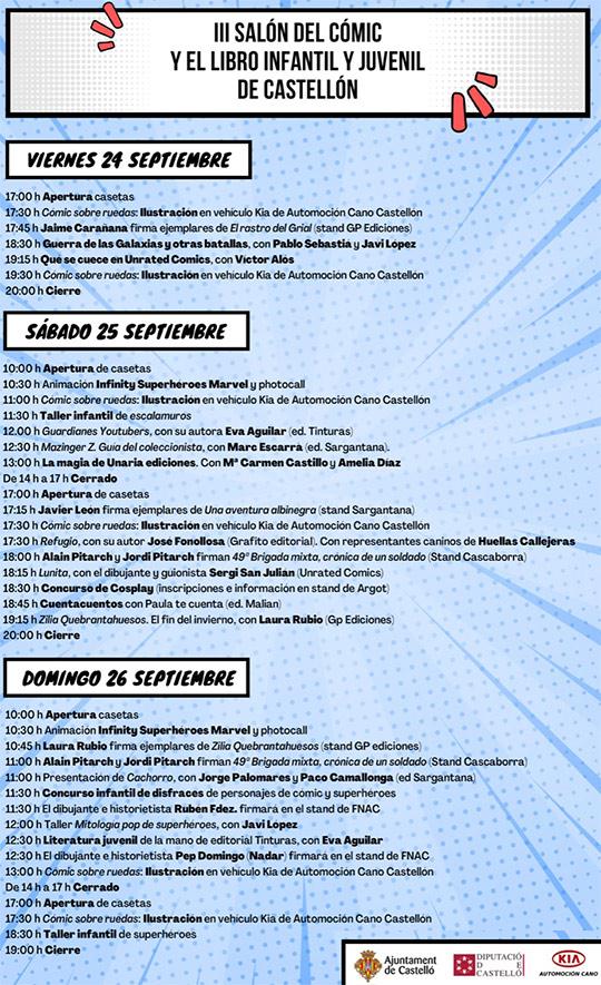 III Salón del Cómic y el libro infantil y juvenil de Castelló