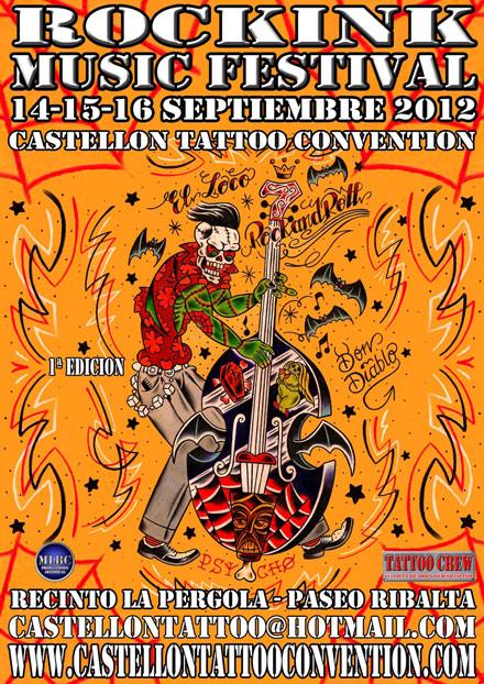 Rockink music festival en la 6 castell n tattoo for La tattoo convention