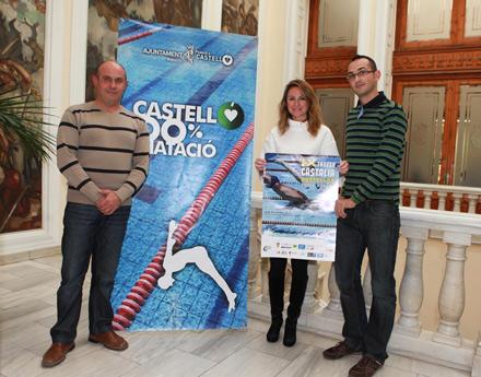 Presentaci n del ix trofeo castalia castell n de nataci n que tendr lugar el s bado 8 de - Piscina olimpica castellon ...