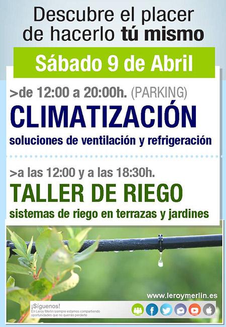 Climatizaci n y taller de riego en leroy merlin castell n for Riego automatico leroy merlin