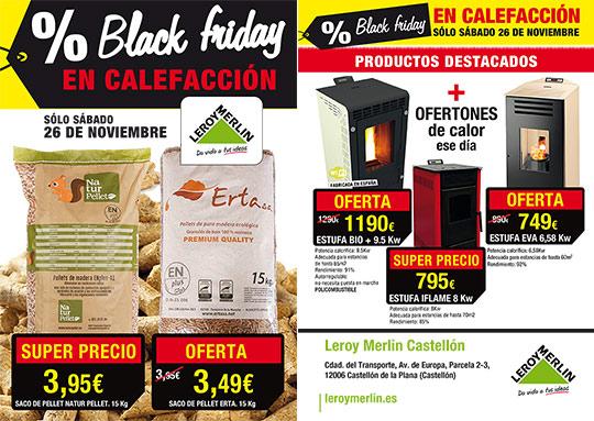 Black friday en calefacci n en leroy merl n castell n for Calefaccion infrarrojos leroy merlin