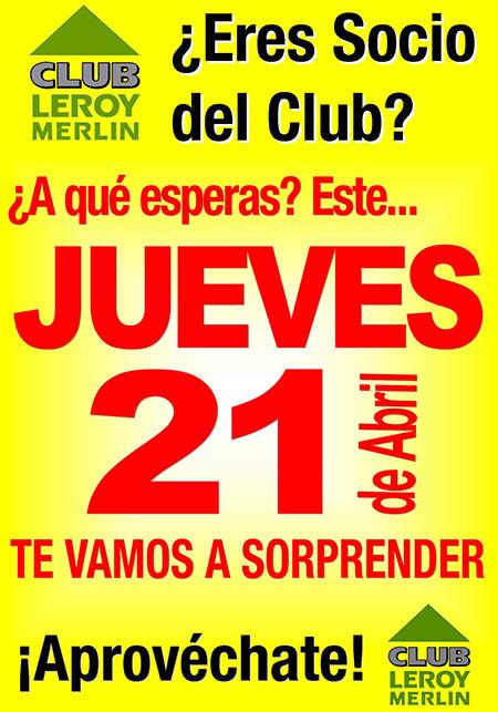Eres socio del club leroy merlin castell n noticias for Tarjeta socio leroy merlin