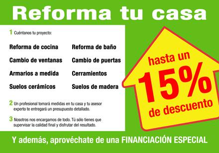 Pack Reforma Tu Casa 2012 Con Descuentos De Hasta Un 15