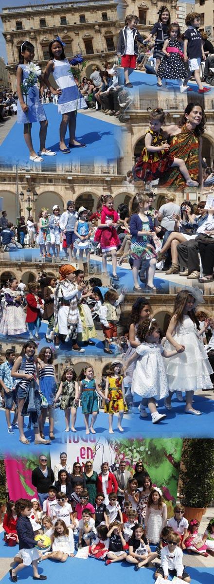 69db5ec98 Divertido desfile infantil de Moda en la Calle Castellón, desfile ...