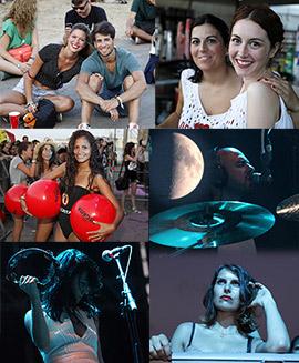 Último día del V festival Arenal Sound en Burriana