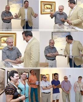 Inauguración de una interesante exposición de Mariano López en Benicàssim