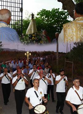 Misa y procesión en Sant Francesc de la Font