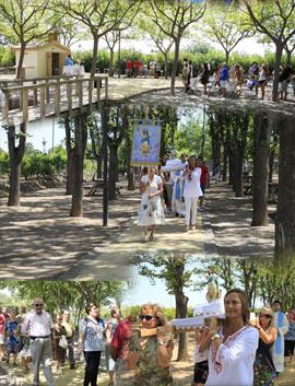 Tradicional Misa y Procesión en el Parque del Meridiano por las fiestas de agosto