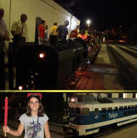 Los trenes en miniatura de Benicàssim el pasado viernes por la noche