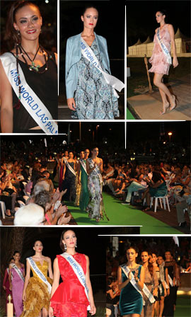 Gran desfile Top Model de Miss World Spain 2014 en el anfiteatro Pepe Falomir Almela de Benicàssim