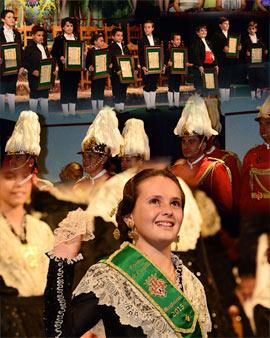 Acto de imposición de Bandas a la Reina Infantil y su Corte de Honor de la Magdalena 2015