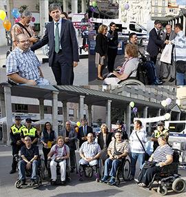 Campaña de sensibilización en Castellón con las personas discapacitadas