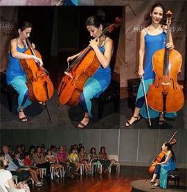 Azul y Jade, concierto de Violoncello de Iris Azquinezer en Benicàssim