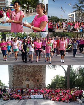 Marcha contra el cáncer de mama en Benicàssim