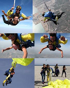 Bautismo paracaidista en salto tándem con Sky Time