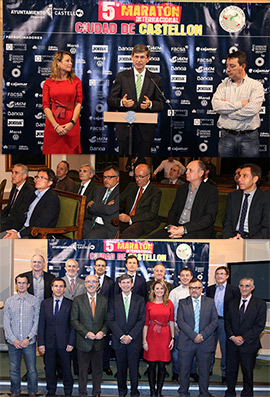 Homenaje a las empresas e instituciones que respaldan el V Maratón Internacional Ciudad de Castellón