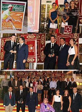 Roberto Bautista proclamado mejor deportista en la XVIII Gala del Deporte Provincial en Benicàssim