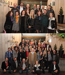 Reunión de alumnos y profesores del colegio Serrano Súñer