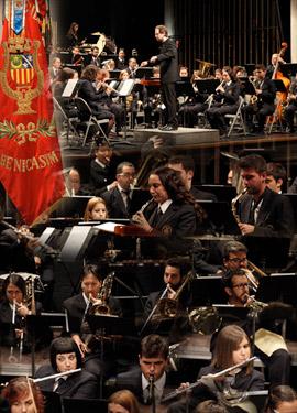 Concierto  de La Unión Musical Santa Cecilia en el Teatro Municipal de Benicàssim en honor a su patrona