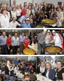 La Federación de Vecinos Coasveca reunió a numerosos vecinos en sus paellas