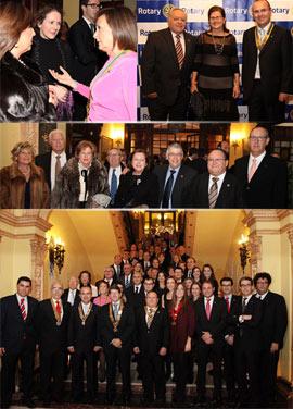 Cena de hermandad de los ocho clubes Rotary de Castellón