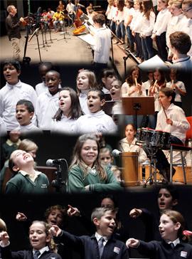 Más de 200 niños en el Festival Escolar de Navidad en el Teatro Principal