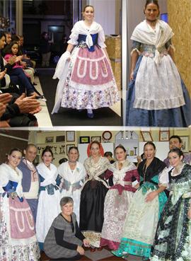 Conxa Oliver en la Passarel-la d´Indumentària de la Comunitat Valenciana en Sagunto