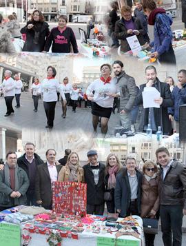 El  Mercadillo Intercultural llenó la plaza Santa Clara de un gran ambiente solidario navideño