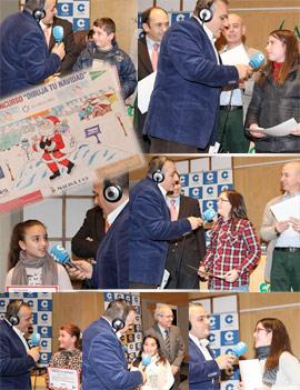 Entrega de premios del VII Concurso Infantil Dibuja tu Navidad que han organizado COPE Castellón y El Corte Inglés