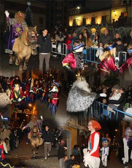Los Reyes Magos llegaron a Nules acompañados por conocidos personajes infantiles