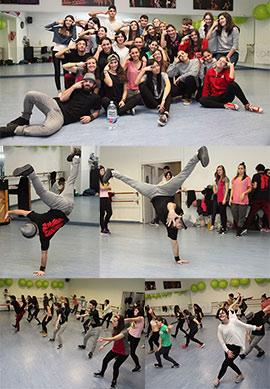 Master Class del conocido grupo de baile RENEGADES CREW en La Zapatilla Roja Fola