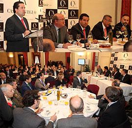 Conferencia del presidente de la Diputación de Castellón, Javier Moliner, en los desayunos del Real Casino Antiguo