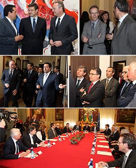 Los principales operadores jurídicos de Castellón se reúnen con el ministro de Justicia, Rafael Catalá
