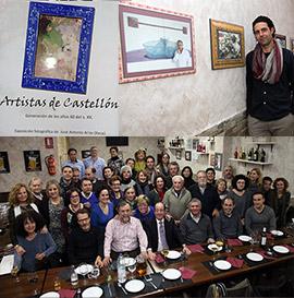 Cena y exposición de Artistas de Castellón en Tapa 13