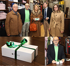 Edelmira Sánchez-Caro Moreno, ganadora del premio de la campaña comercial 'Más Navidad en los comercios de Castellón'