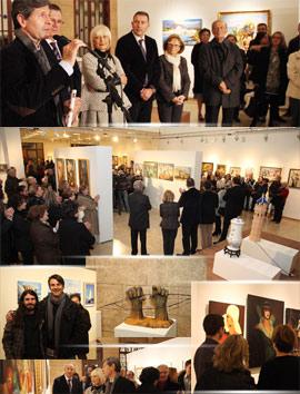 Inauguración de la exposición de la Asociación Cultural de Bellas Artes y Artesanía de Castellón