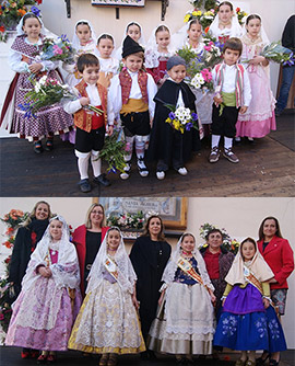 Benicàssim honra a Santa Águeda con una ofrenda floral