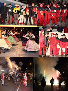 El Grau celebró Sant Antoni del Porquet con Botafocs y su Ball de Dimonis