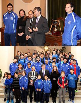El Club Voleibol Mediterráneo visita el Ayuntamiento de Castellón