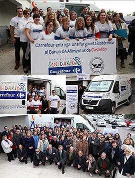 Fundación Solidaridad de Carrefour entrega un vehículo isotermo al Banco de Alimentos