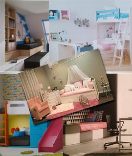 Especial muebles y decoración en los espacios para jóvenes y niños