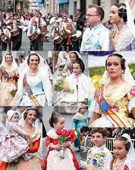 Ofrenda de flores a la patrona de Burriana, la Mare de Déu de la Misericordia