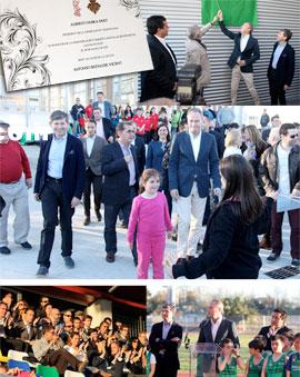 El President de la Generalitat, Alberto Fabra, inaugura la remodelación del Polideportivo Gaetà Huguet en Castellón