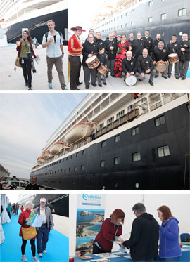 El crucero Prinsendam, de Holland America Line, atracó en el Muelle de Cruceros del Puerto de Castellón