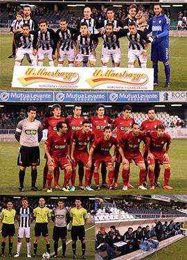 Partido del CD Castellón en la ida de la final de la Copa de la Federación Española de Fútbol