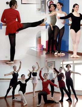Imágenes del cursillo de danza clásica de Coppelia